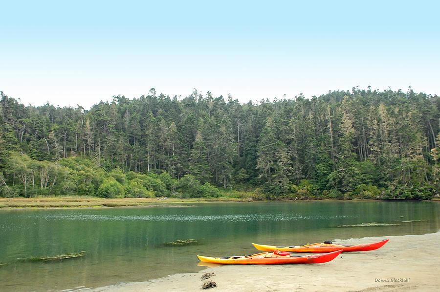 Kayak Photograph - Kayak Adventure Awaits by Donna Blackhall