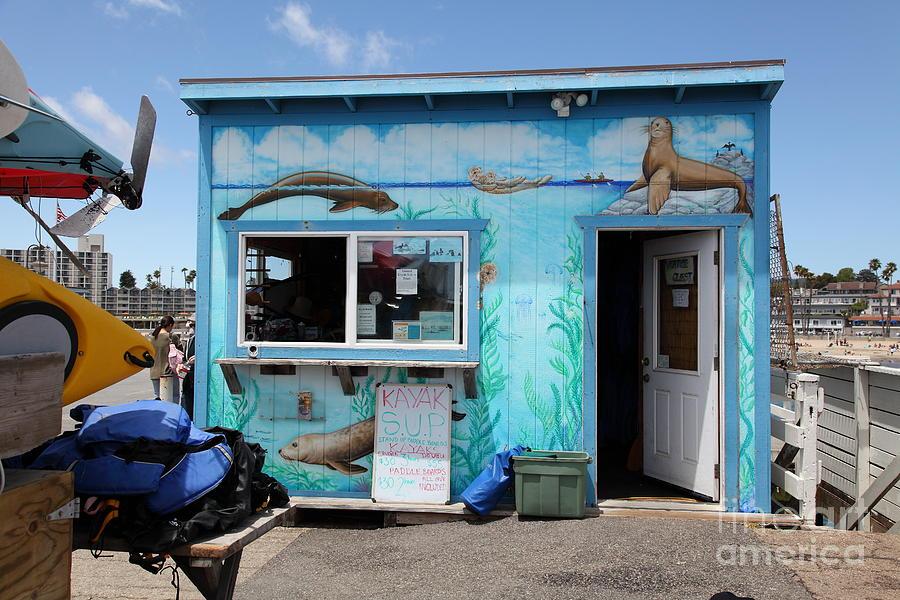 California Photograph - Kayak Rentals On The Municipal Wharf At Santa Cruz Beach Boardwalk California 5d23788 by Wingsdomain Art and Photography