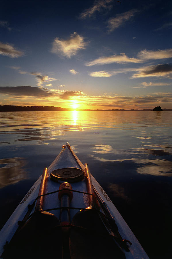 Kayaking At Sunset On Bahia Concepcion Photograph by Mark Newman