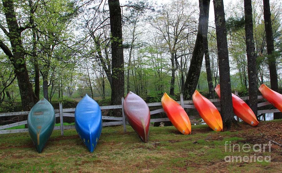 Maine Photograph - Kayaks Waiting by Michael Mooney