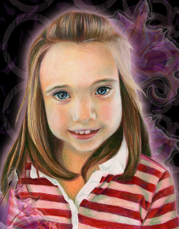 Young Drawing - Kaylee by Heather Raven Illingworth