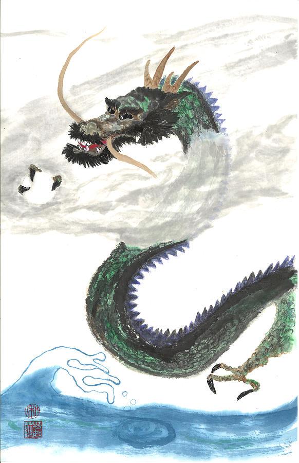 Japanese Painting - Kazuhiko Ryu by Terri Harris