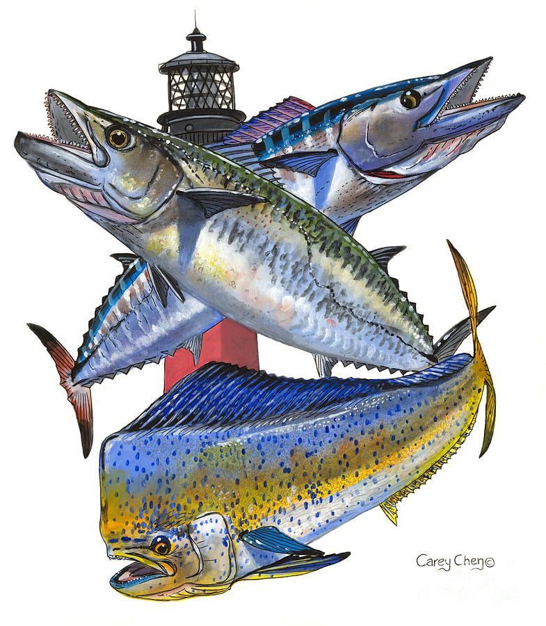 Kingfish Painting - Kdw Jupiter by Carey Chen