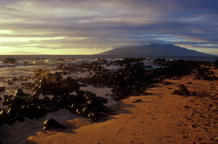 Hawaii Photograph - Keawakupu Beach Lava Evening Light Maui Hawaii by John Burk