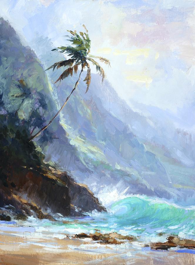 Beach Painting - Kee Beach by Jenifer Prince
