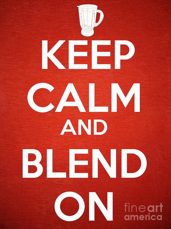 Margarita Photograph - Keep Calm And Blend On by Edward Fielding