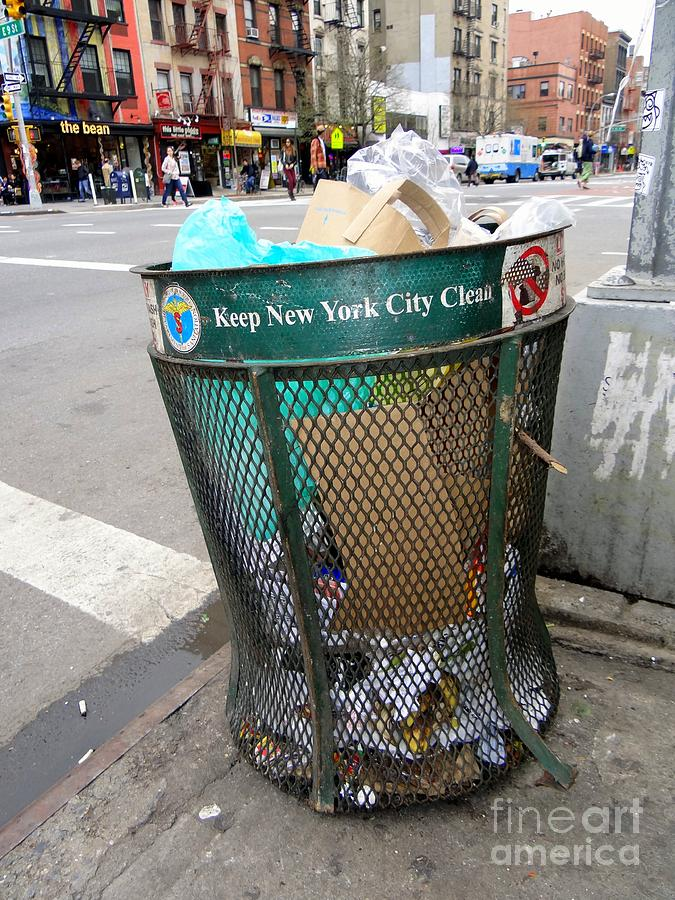 Garbage Can Photograph - Keep Nyc Clean by Ed Weidman
