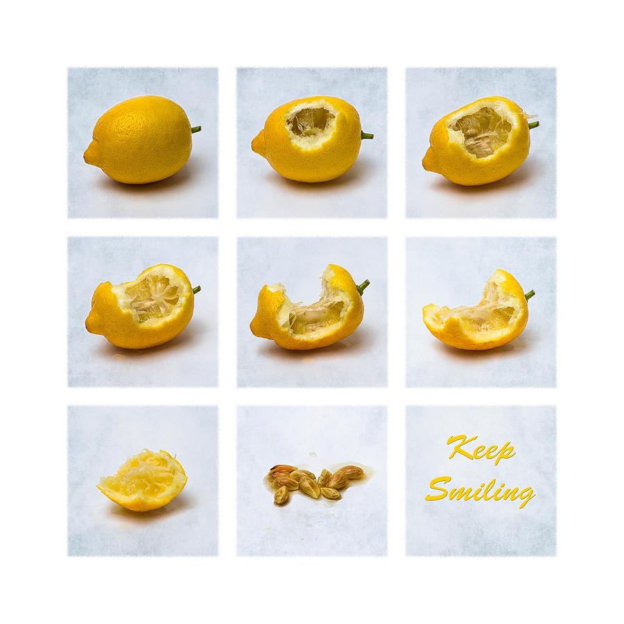 Lemon Photograph - Keep Smiling by Alexander Senin