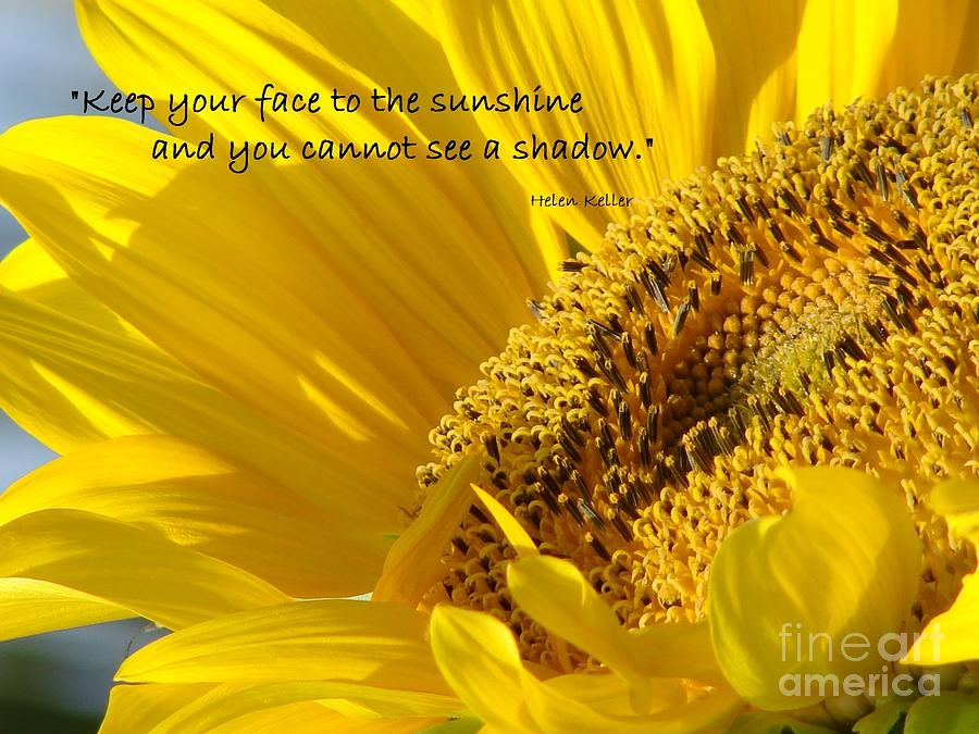 Keep Your Face To The Sunshine Photograph