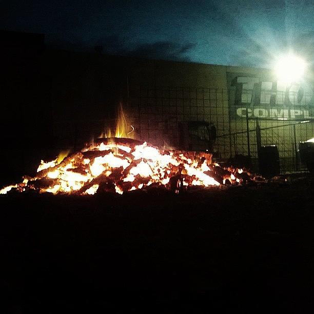 Beautiful Photograph - #keepearm #fire #bonfire #melbourne by Katie Ball