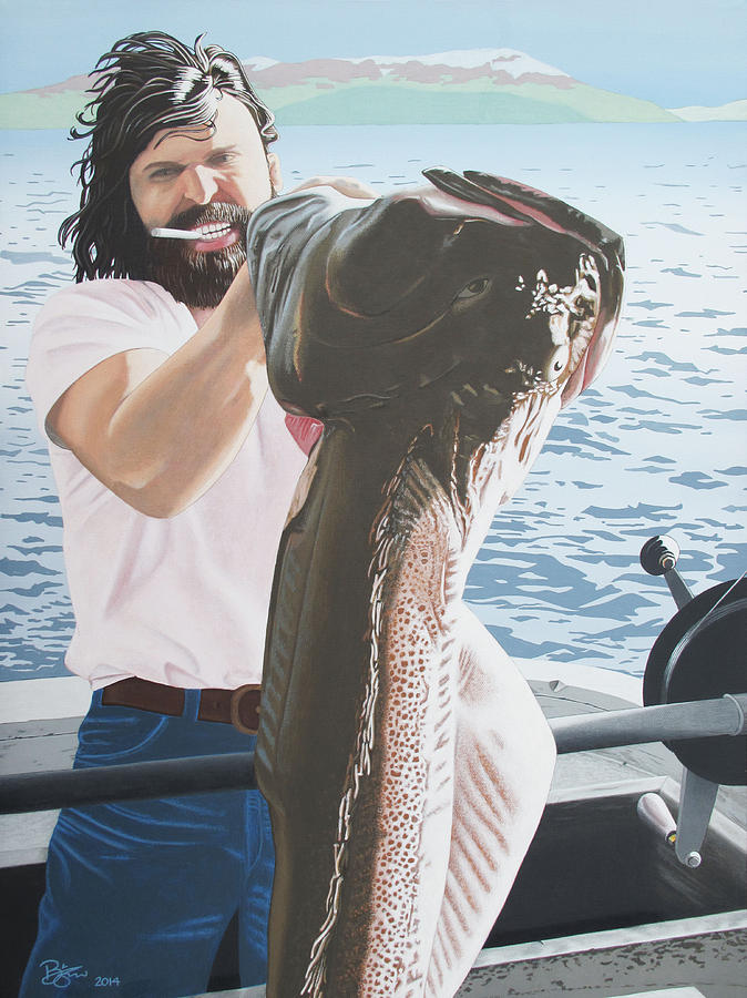 Fish Painting - Keeper by Lance Bifoss