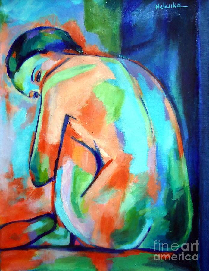 Nude Figures Painting - Keeper Of Secrets by Helena Wierzbicki