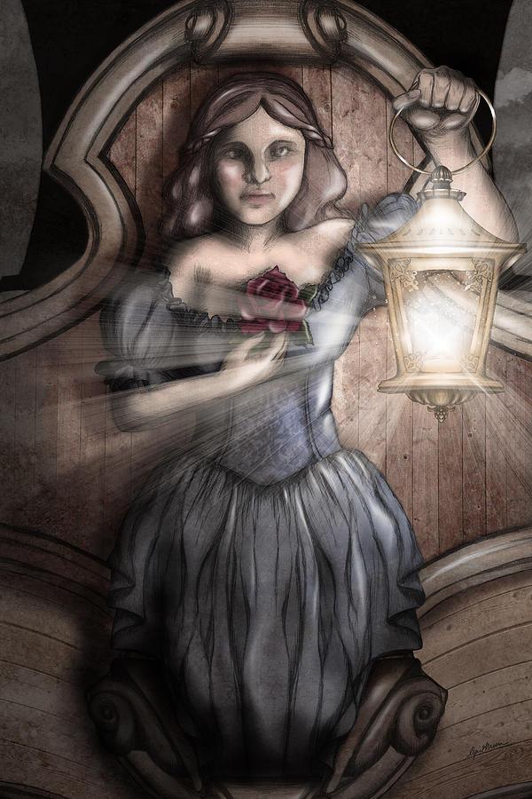 Ship Digital Art - Keeper Of The Light by April Moen