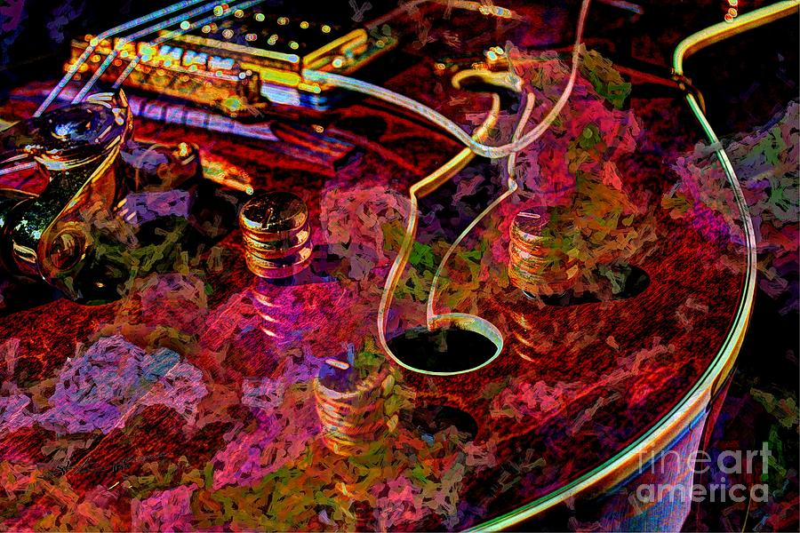 Guitar Photograph - Keeping In Tune Digital Guitar Art By Steven Langston by Steven Lebron Langston