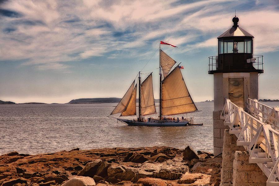 Lighthouse Photograph - Keeping Vessels Safe by Karol Livote