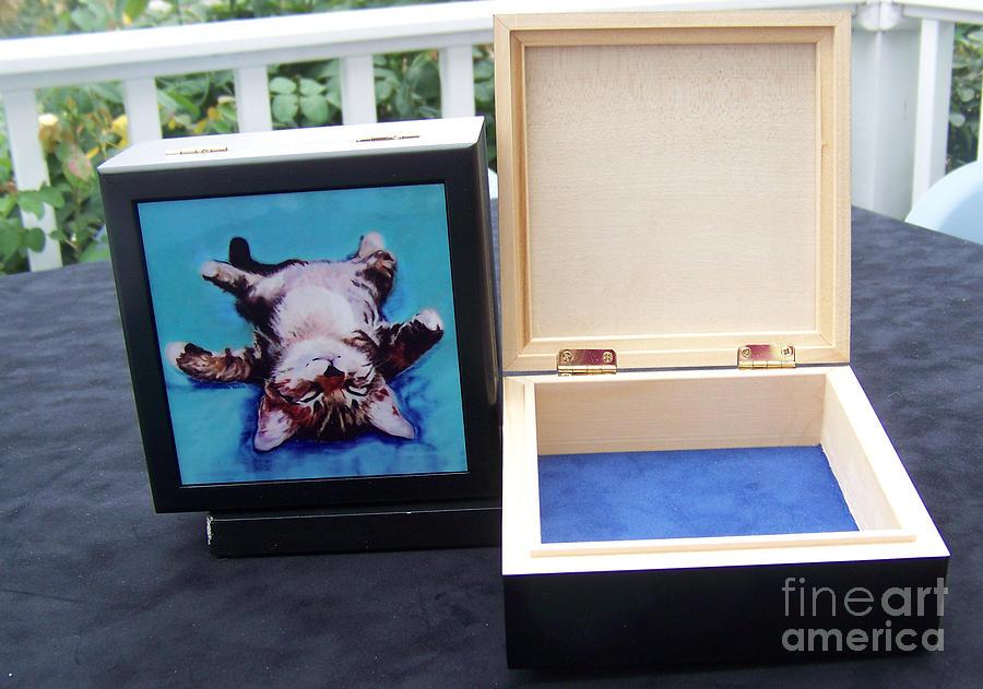 Pat Saunders-white Canvas Prints Mixed Media - Keepsake Box by Pat Saunders-White