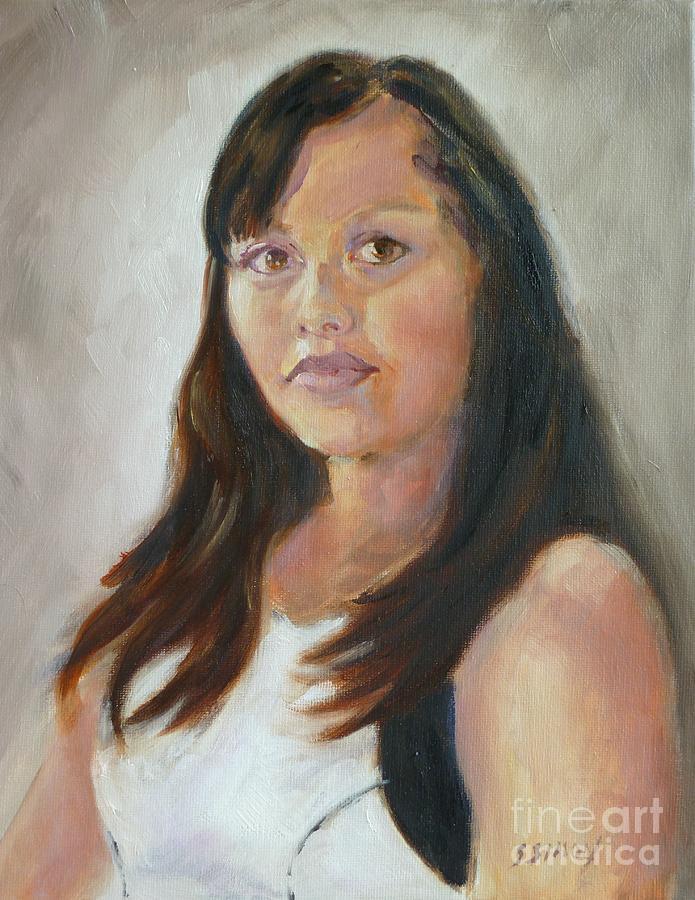 Oil Portrait Painting - Keila by Sally Simon