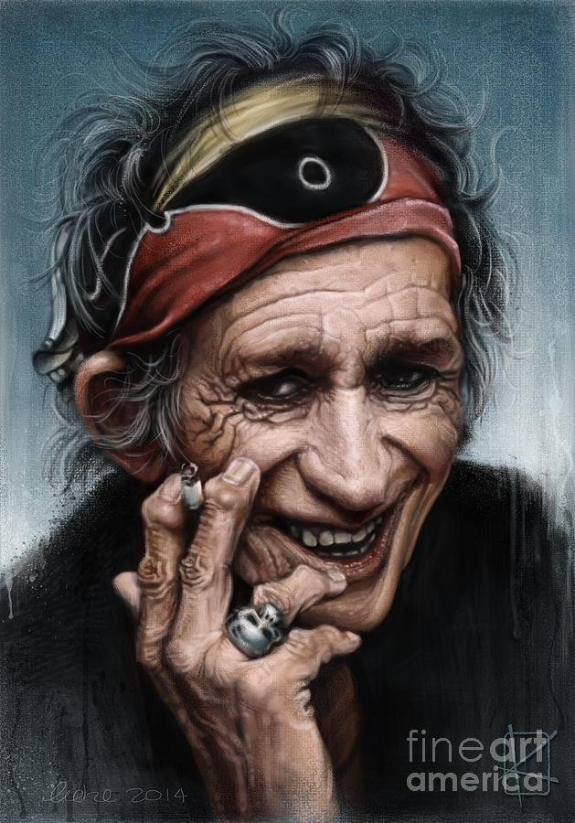 Keith Richards Digital Art - Keith Richards by Andre Koekemoer