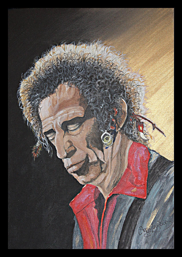 Portrait Painting - Keith Richards by Annie Lovelass