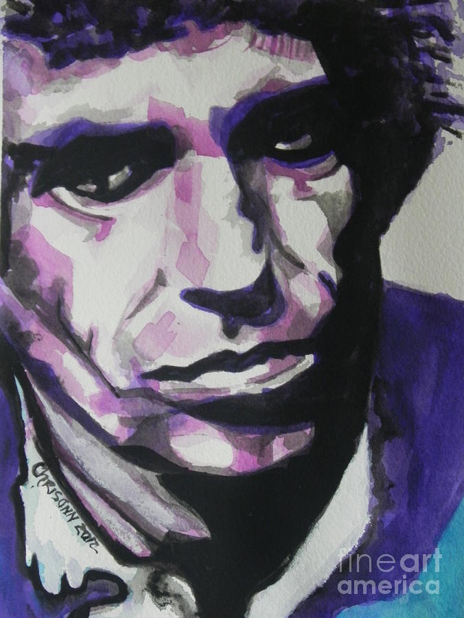 Watercolor Painting Painting - Keith Richards by Chrisann Ellis