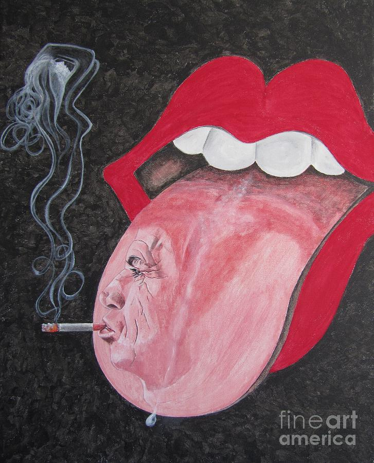 Rolling Stones Painting - Keith Richards by Jeepee Aero
