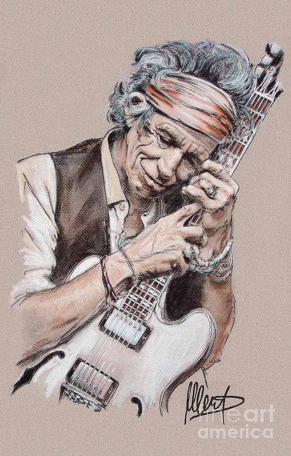 Keith Richards Drawing - Keith Richards by Melanie D
