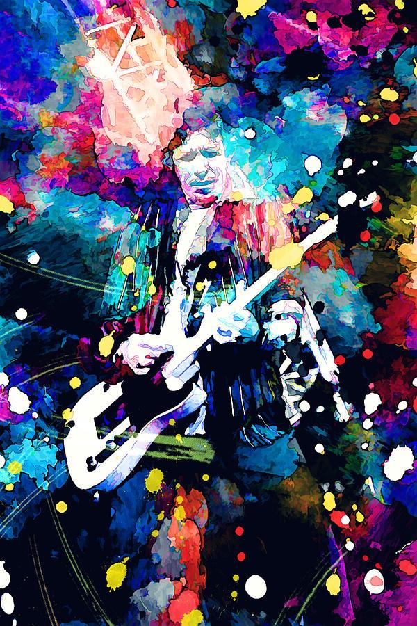 Rolling Stones Painting - Keith Richards by Rosalina Atanasova