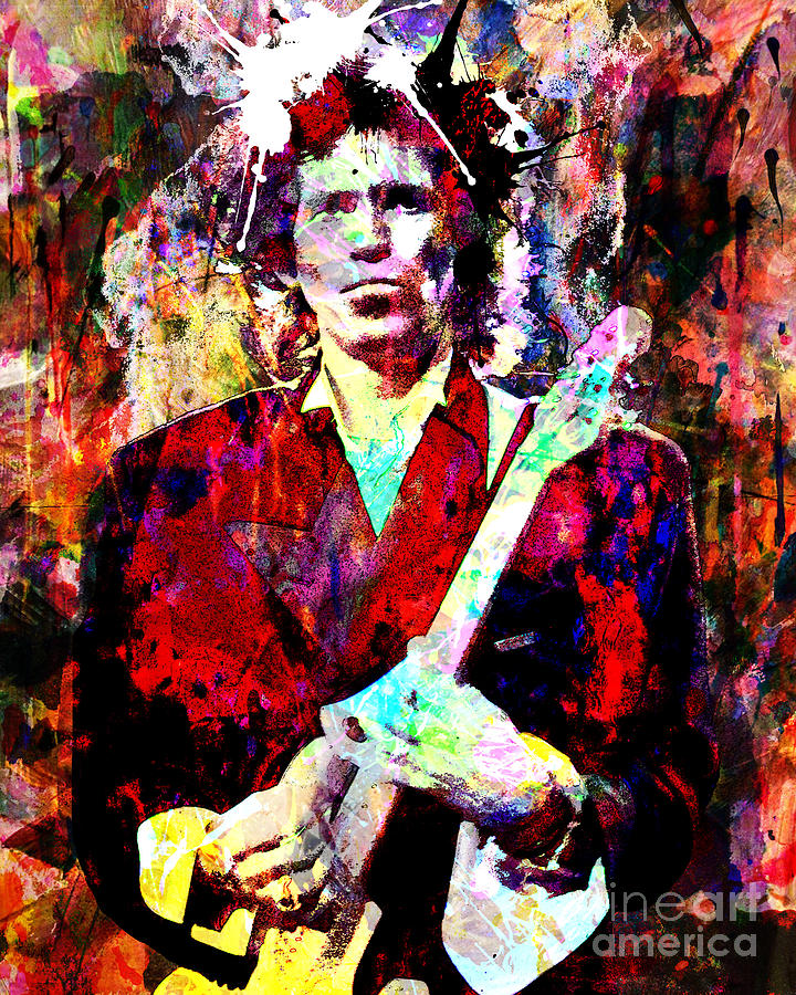 Keith Richards - The Rolling Stones Painting by Ryan Rock