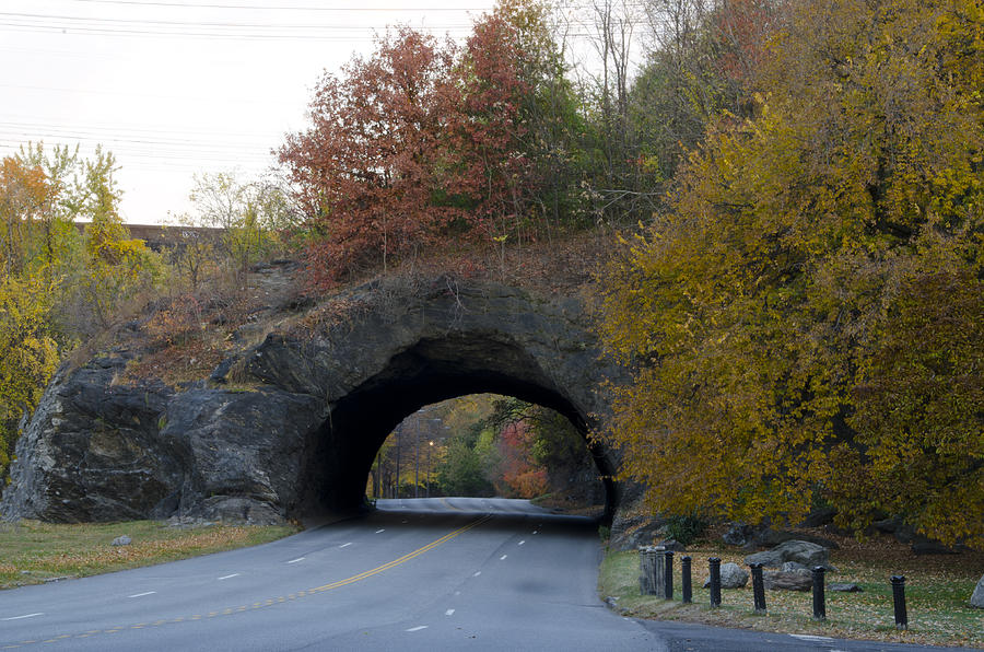 Kelly Photograph - Kelly Drive Rock Tunnel In Autumn by Bill Cannon