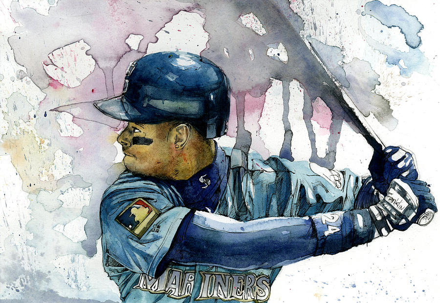 adb9d70a4d Ken Griffey Jr. Painting by Michael Pattison
