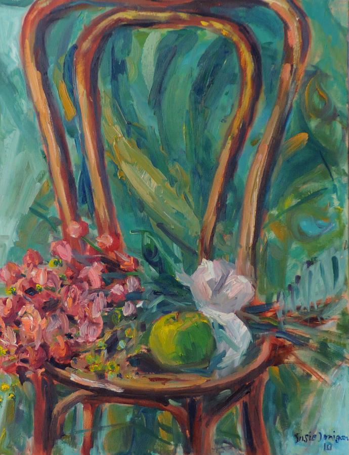 Roses Painting - Kendas Chair by Susie Jernigan