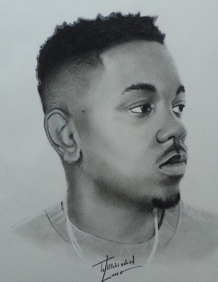 Kendrick Lamar Charcoal Drawing By Lance Freeman