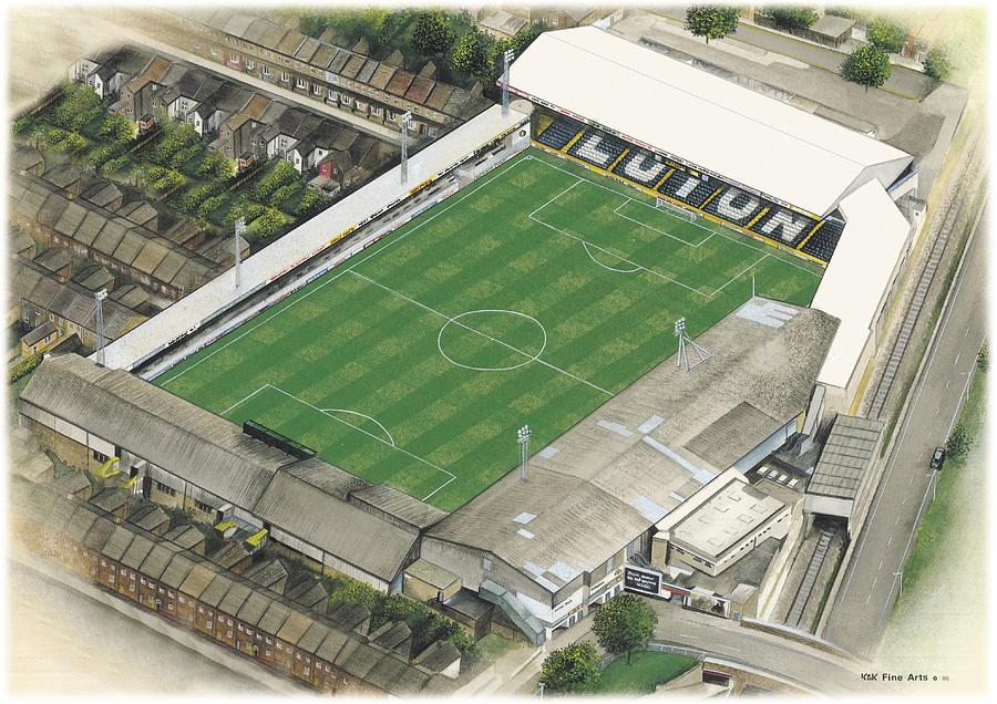 Kenilworth Road Luton Town Painting By Kevin Fletcher