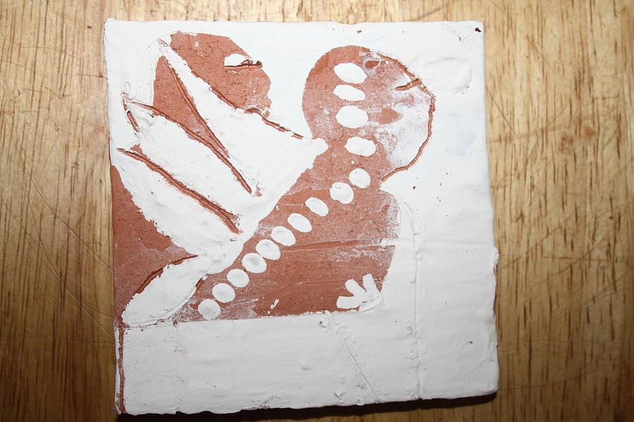 Jesus Ceramic Art - Kenna - Tile by Gloria Ssali