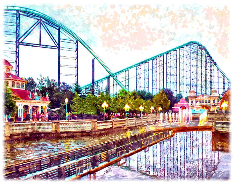 Amusement Park Painting - Kennywood Amusement Park by Charles Ott