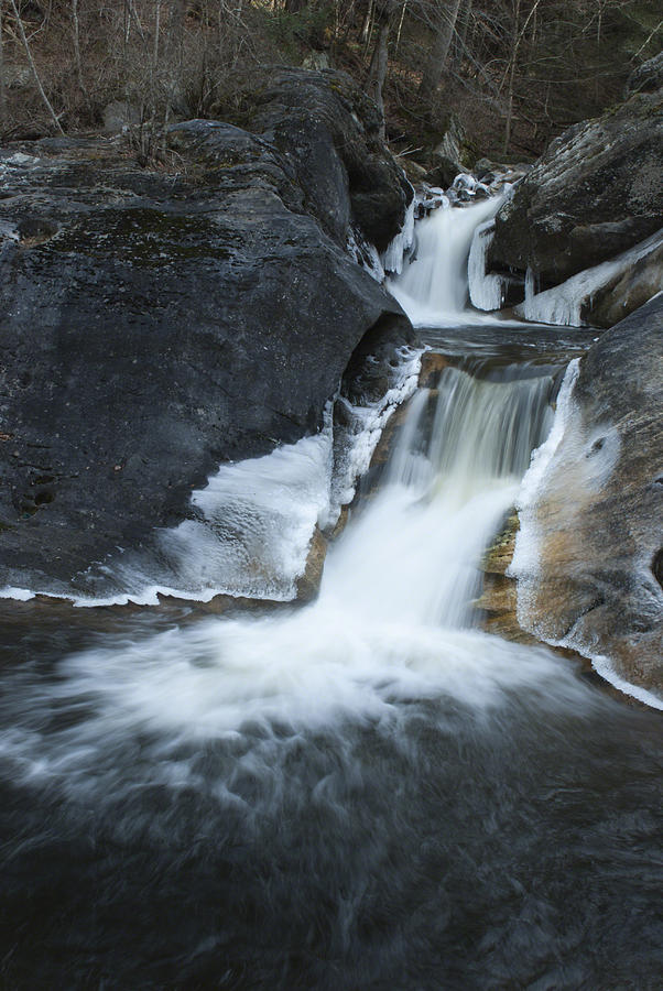 Flowing Water Photograph - Kent Falls Cascades by Clifford Pugliese