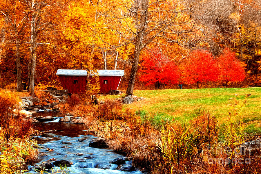 Kent Falls In The Autumn Photograph