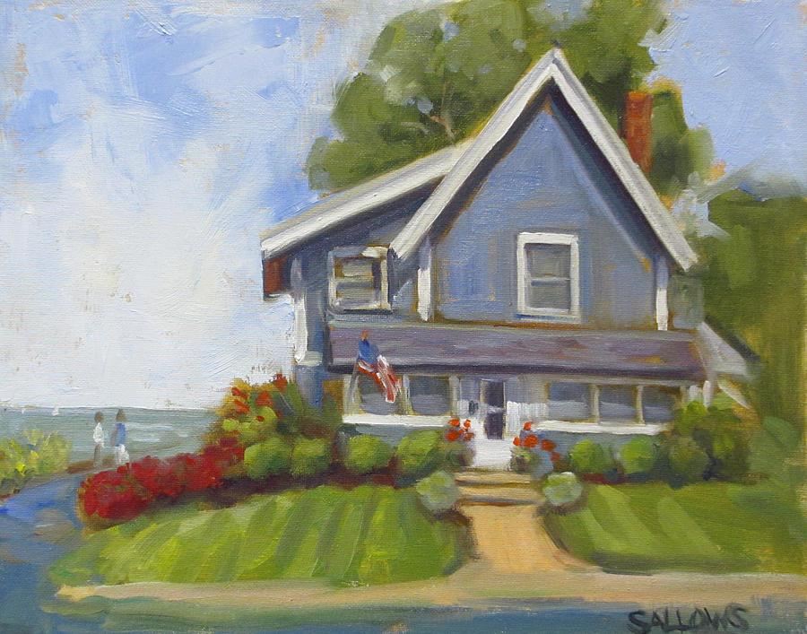 Lakehouse Painting - Kenton Row by Nora Sallows