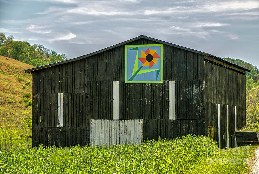 Kentucky Barn Quilt Flower Of Friendship Photograph By