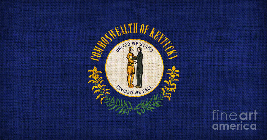 Kentucky Painting - Kentucky State Flag by Pixel Chimp