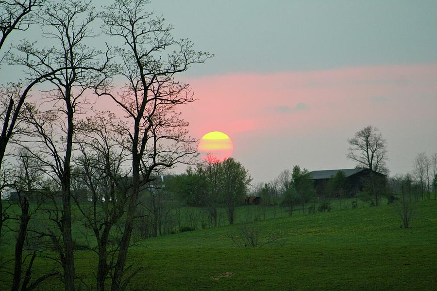 Sunset Photograph - Kentucky Sunset by Donald Lively