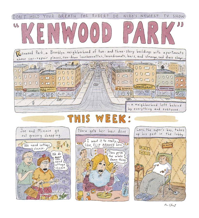 Kenwood Park Drawing by Roz Chast