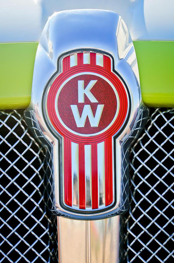 Classic Cars Photograph - Kenworth Truck Emblem -1196c by Jill Reger