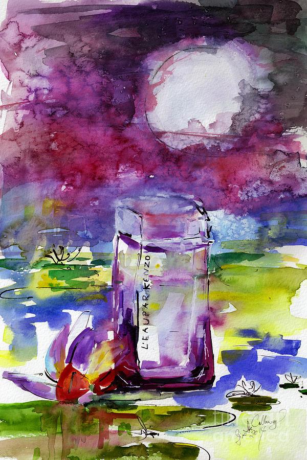 Kenzo LEau par Eau Indigo Pour Femme Painting by Ginette Callaway