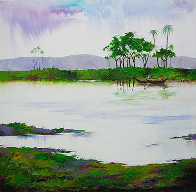 Landscape Painting - Kerala by Deepali Sagade