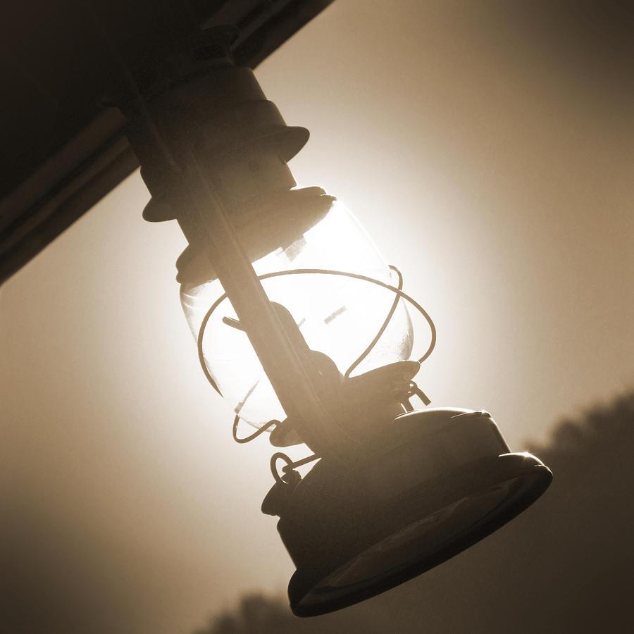 Kerosene Lantern Photograph - Kerosene Lantern by Mike McGlothlen