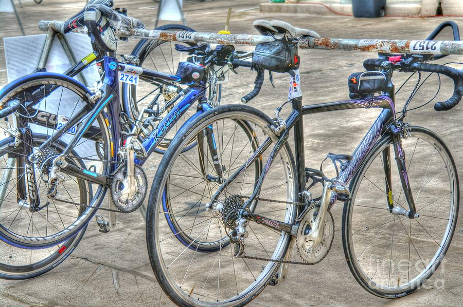 Madison Wisconsin Photograph - Kestrel And Specialized--ironman Rides by David Bearden