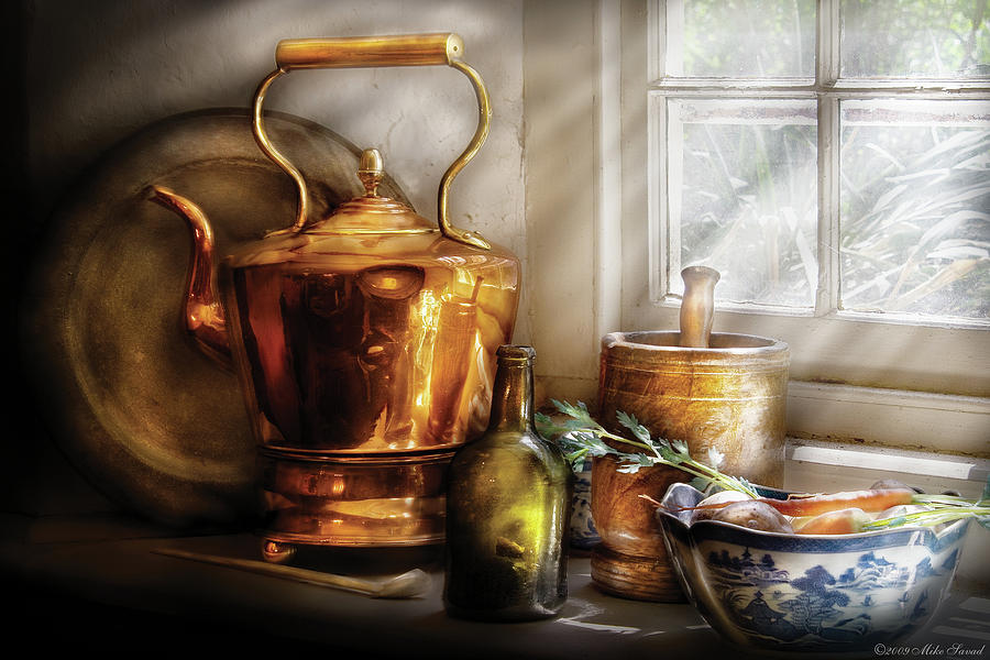 Coffee Photograph - Kettle - Cherished Memories by Mike Savad