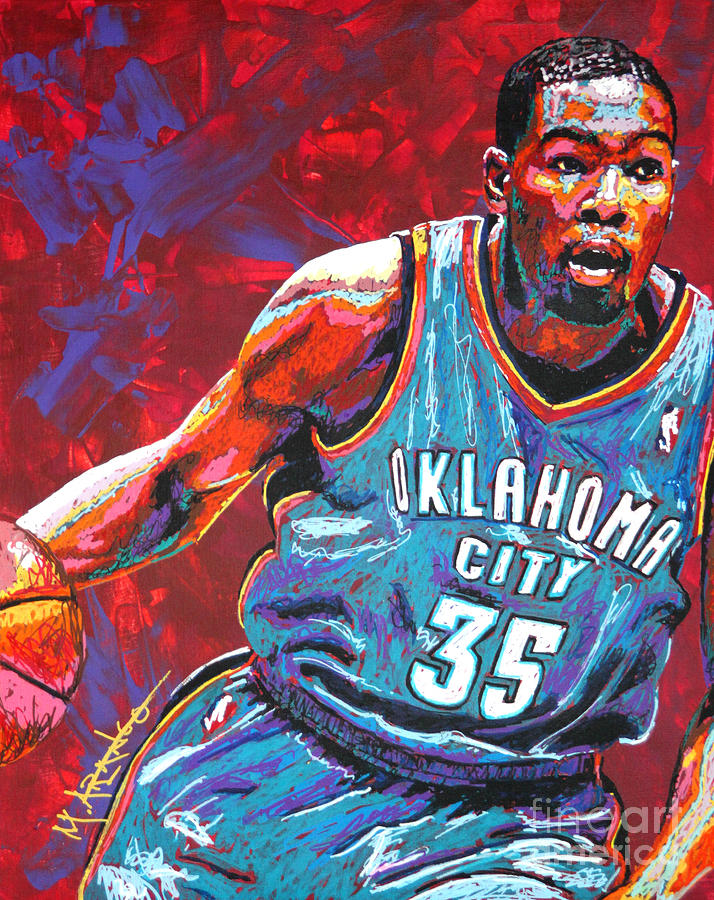 Kevin Painting - Kevin Durant 2 by Maria Arango