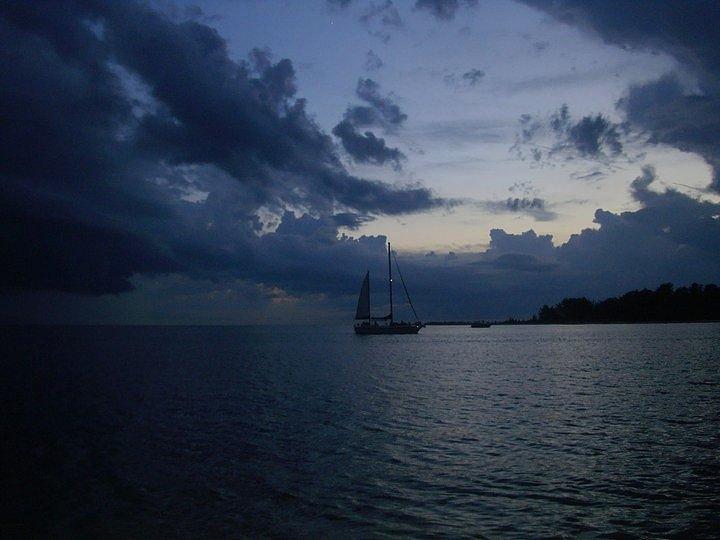 Seascape Key West Florida Sunset Photograph - Key Escape by Bruce Kessler